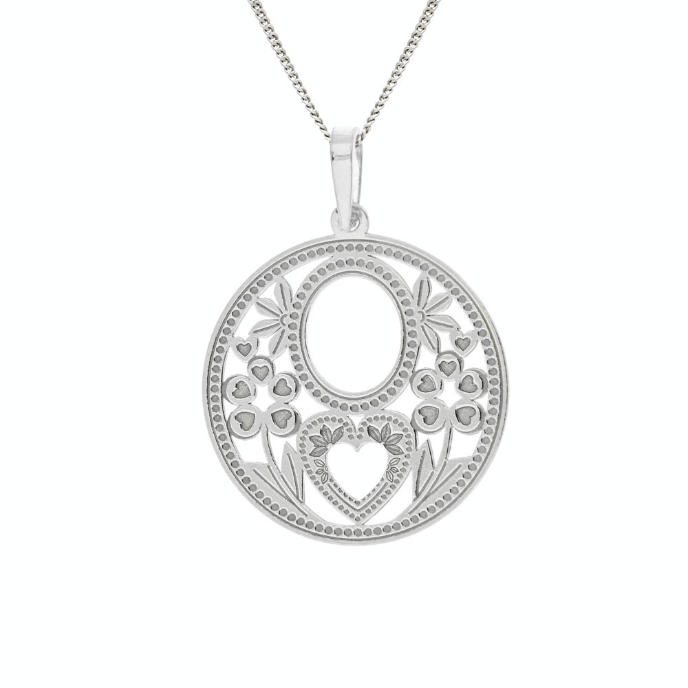 Silver Pendant with Chain Amarela