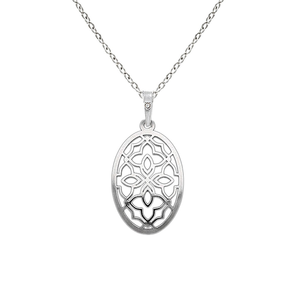 Silver Pendant with Chain KO1979_BR030_45