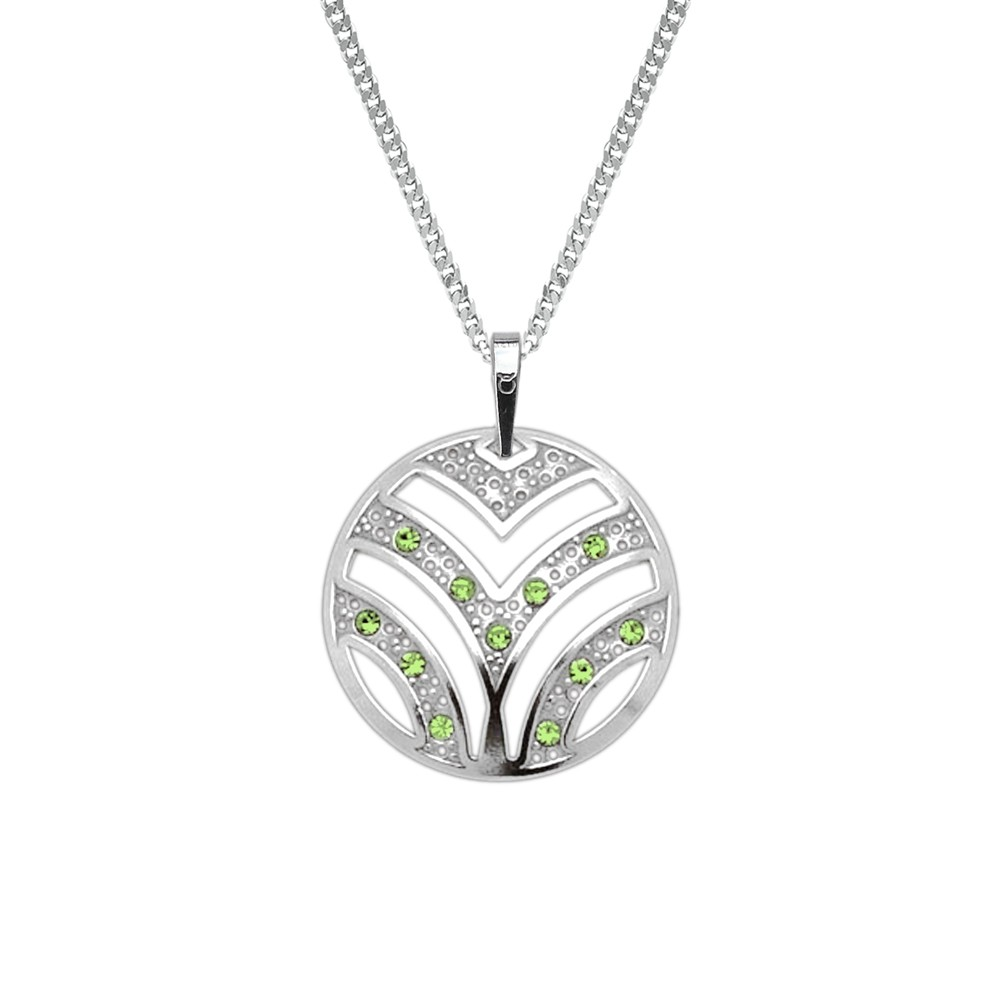 Silver Pendant with Chain KO2026_CU050_45