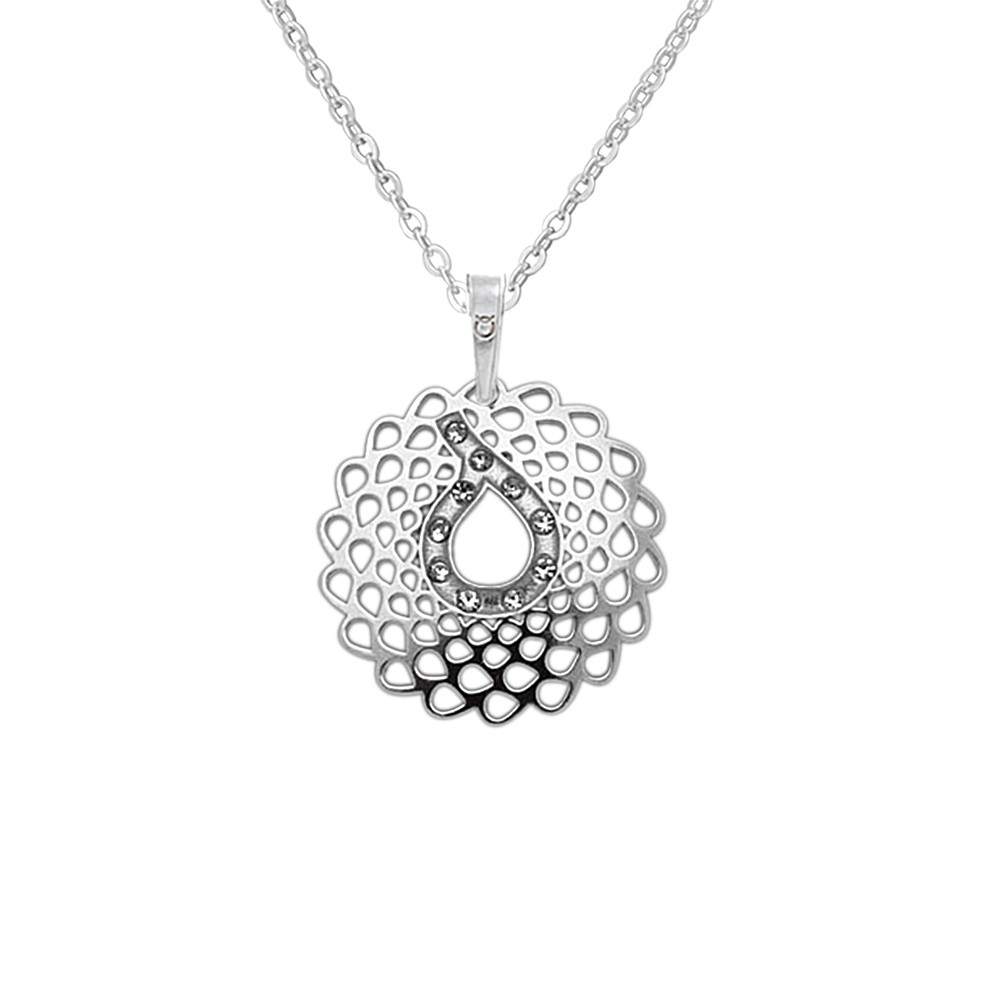 Silver Pendant with Chain KO2032_BR030_45