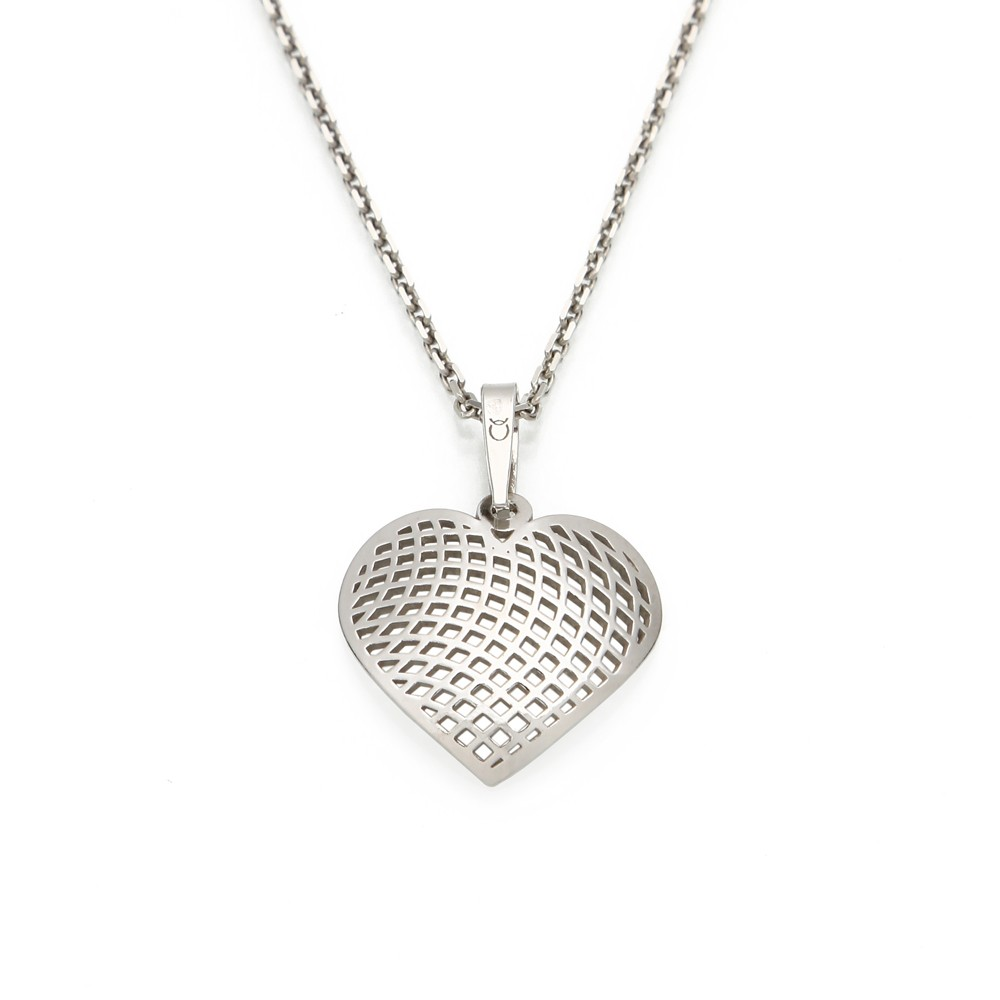 Silver Pendant with Chain Eternal Love