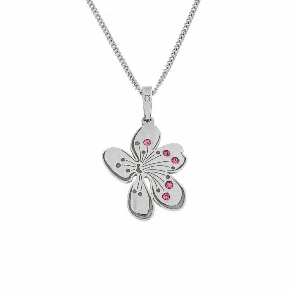 Silver Pendant with Chain Jardin