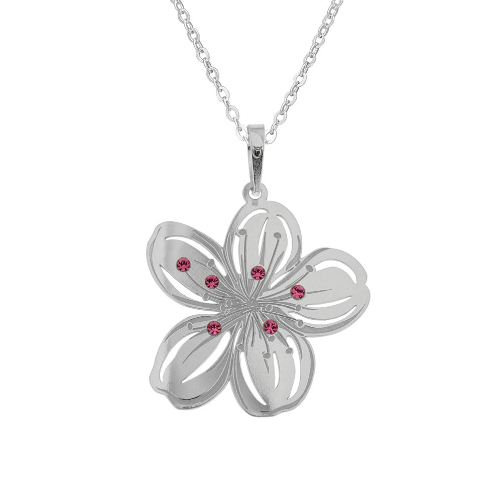 Silver Pendant with Chain Cherie