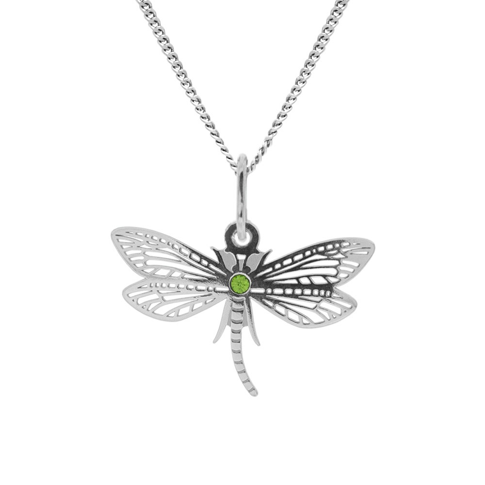Silver Pendant with Chain Fly