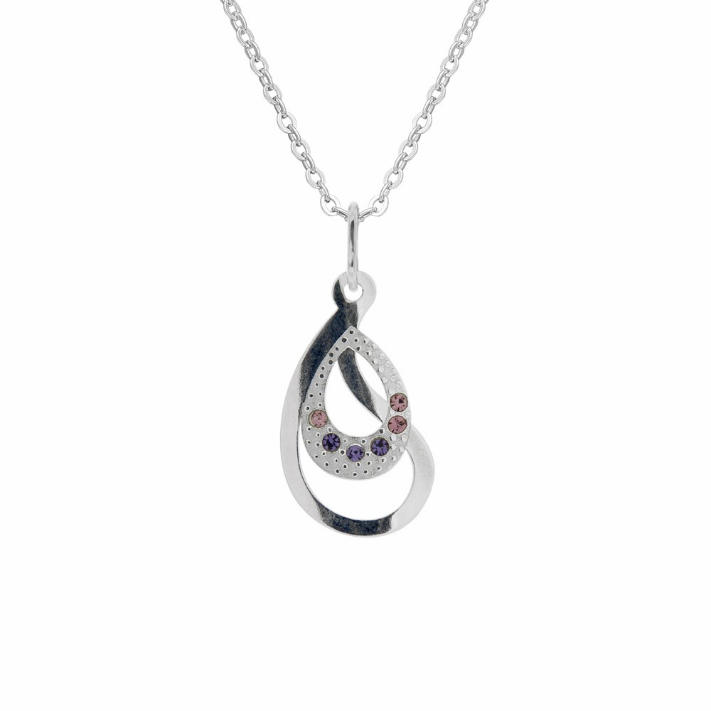 Silver Pendant with Chain Gaia