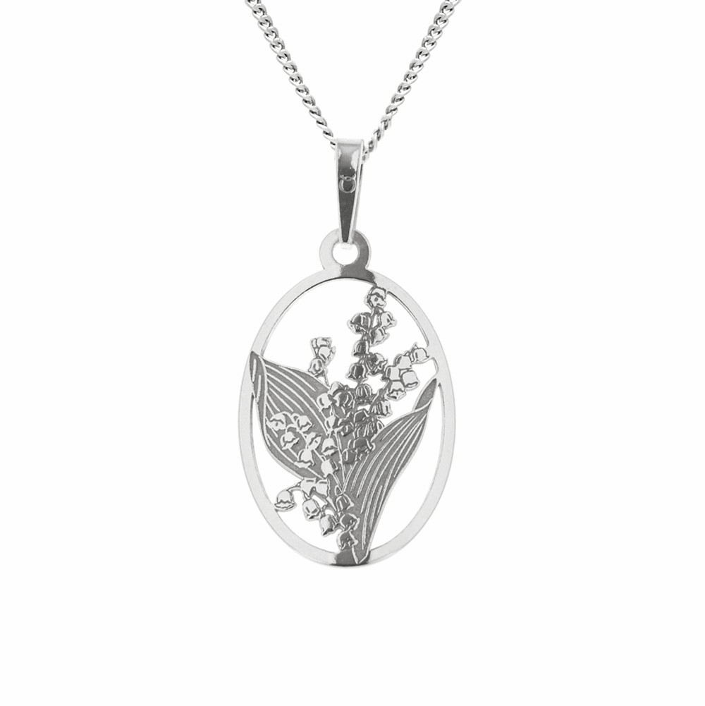 Silver Pendant with Chain Purity