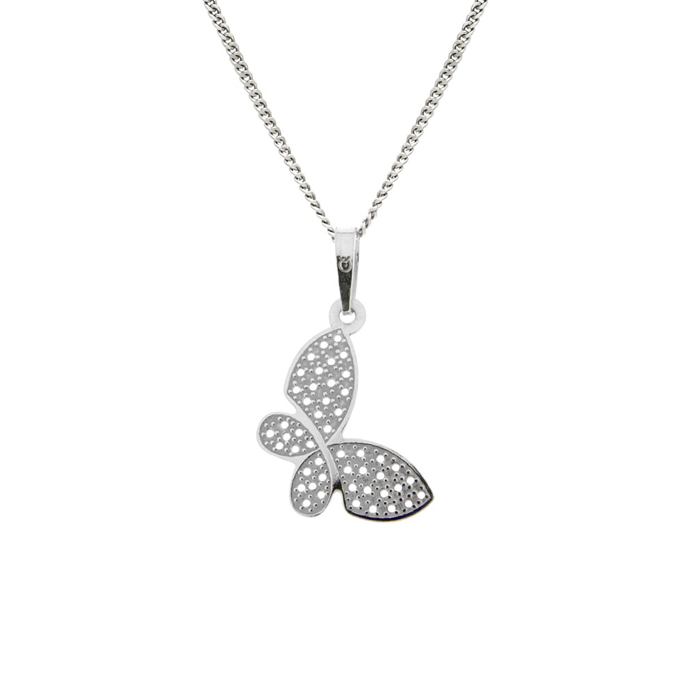 Silver Pendant with Chain KO5075_VO040_45