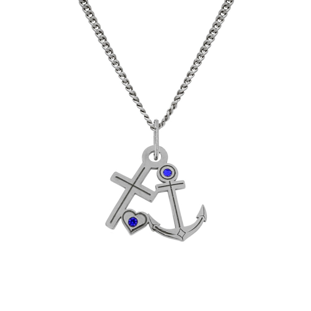 Silver Pendant with Chain Anchor