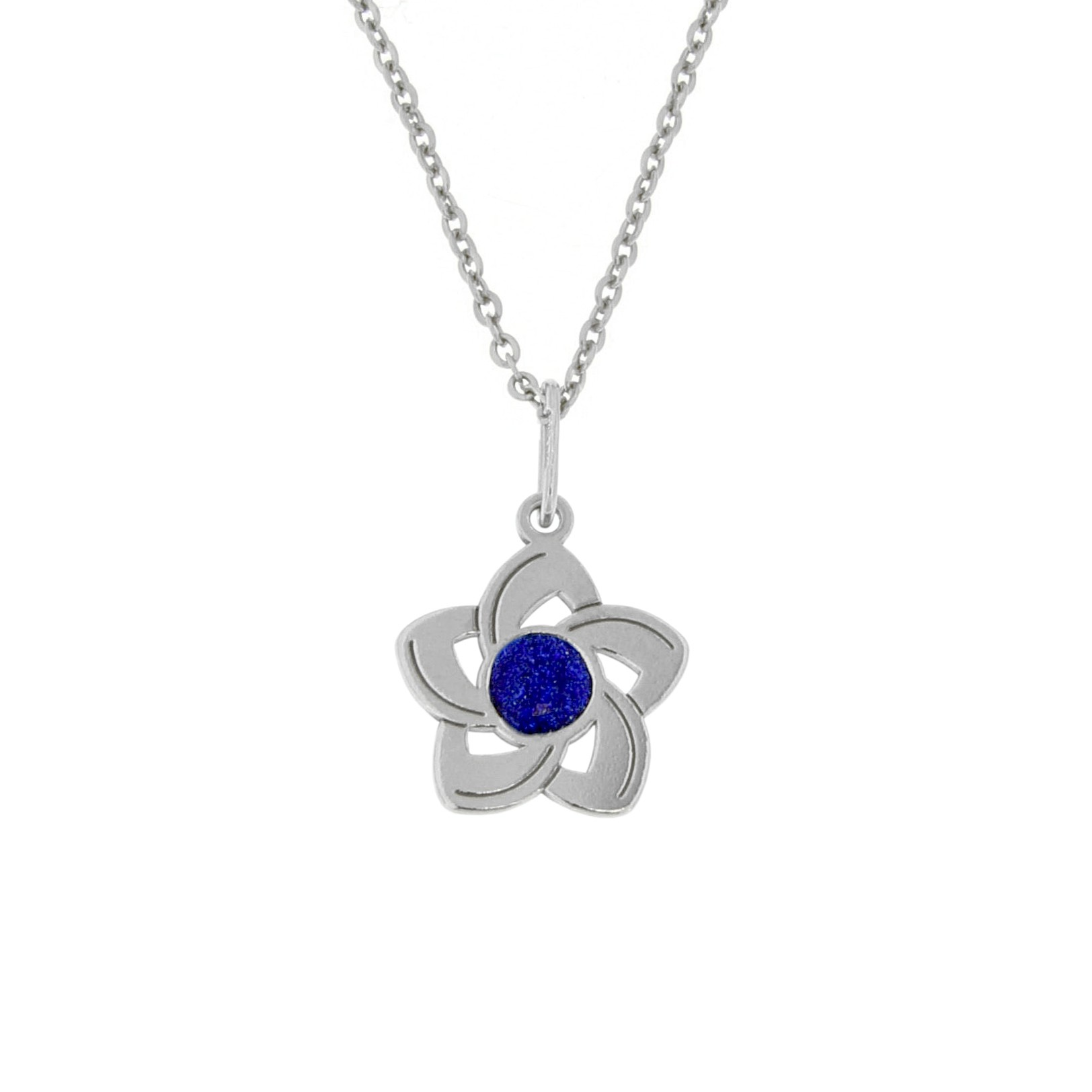 Silver Pendant with Chain Frozen