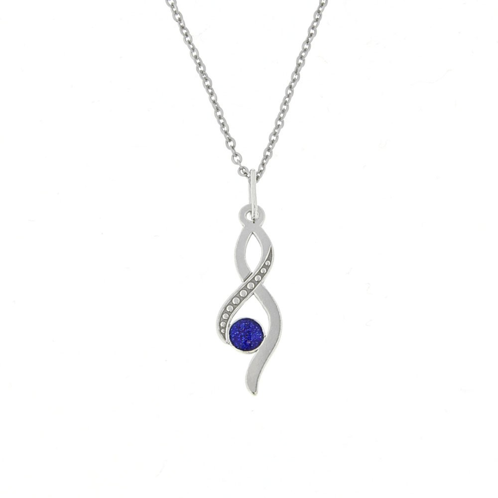 Silver Pendant with Chain Teardrop