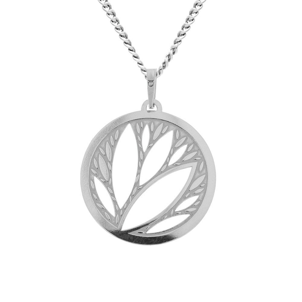 Silver Pendant with Chain Lobela