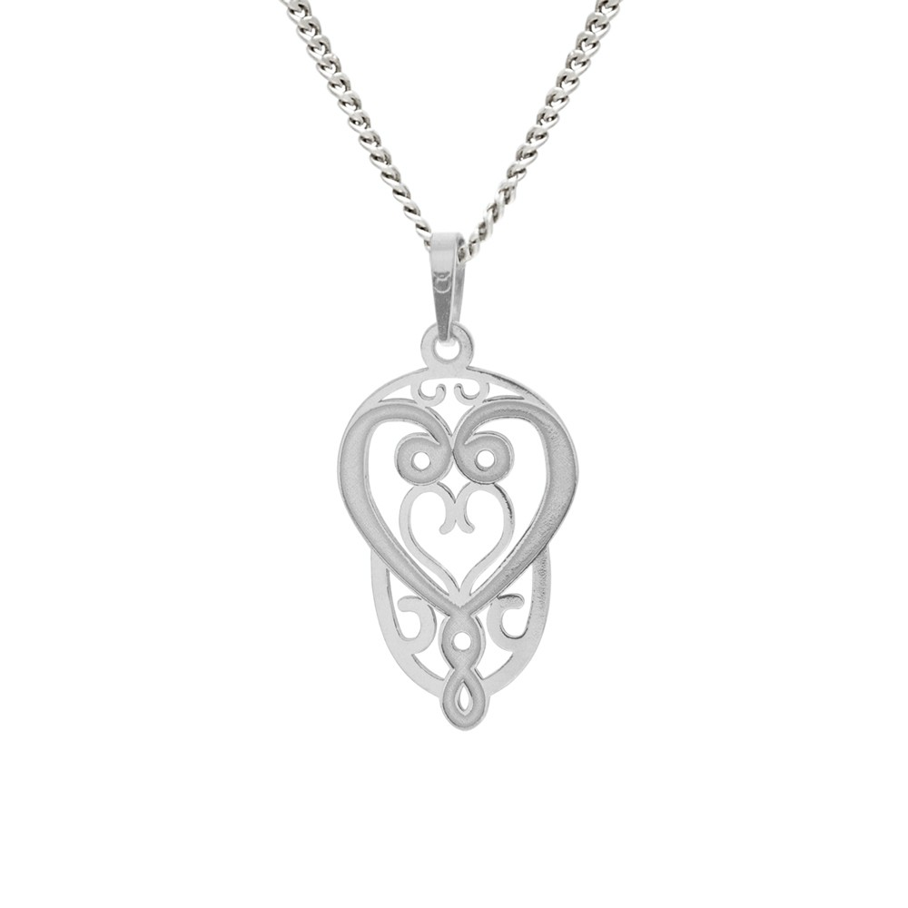 Silver Pendant with Chain Sirael