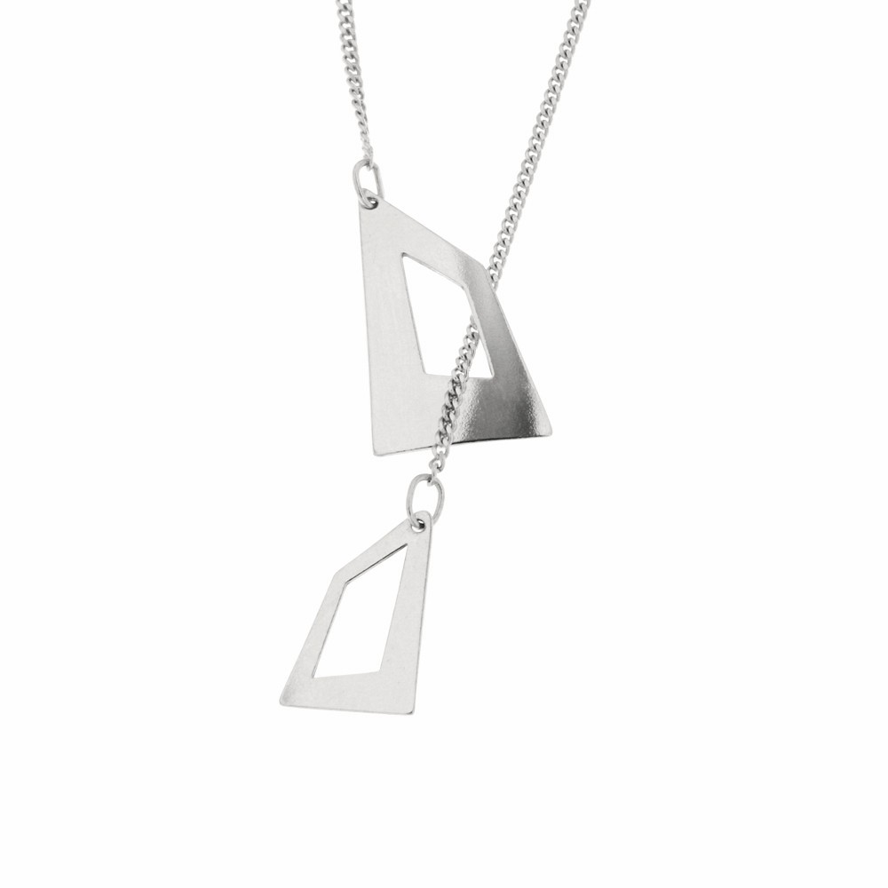 Silver Necklace Gemini