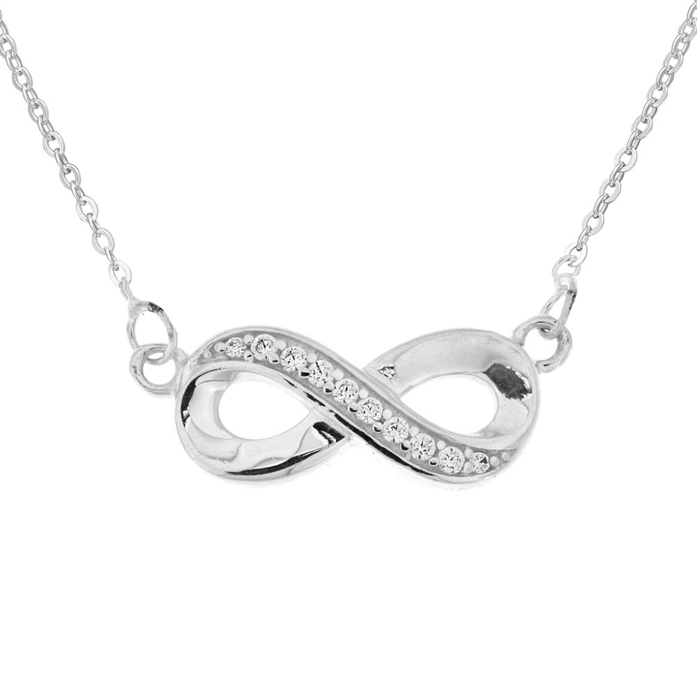 Silver Necklace Infinity