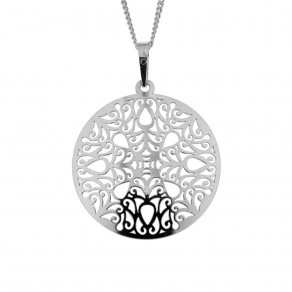 Silver Pendant with Chain Cambrie