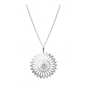 Silver Pendant with Chain KO0941M_CU040_50 Shining Blossom