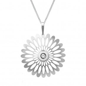 Silver Pendant with Chain KO0941V_CU050_50 Shining Blossom