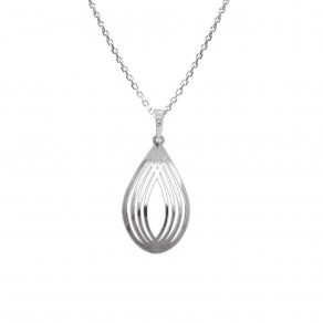 Silver Pendant with Chain KO1288M_MO040_45