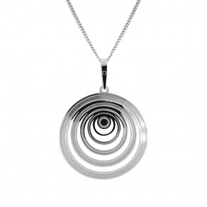 Silver Pendant with Chain KO1445_CU040_45