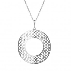 Silver Pendant with Chain KO1460S_CU050_50 Eclipse