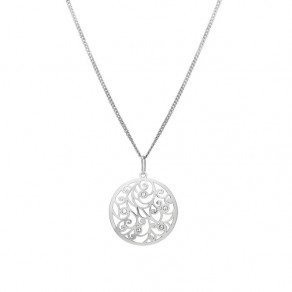 Silver Pendant with Chain KO1708m_CU040_50
