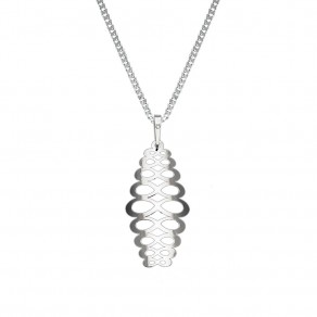 Silver Pendant with Chain KO1934_CU050_45