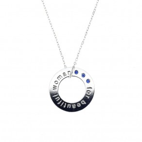Silver Pendant with Chain KO2093_BR030_45
