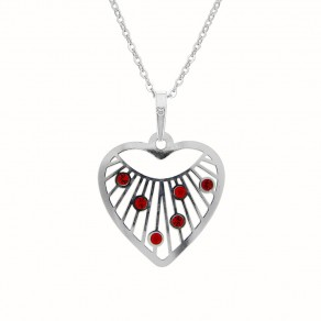 Silver Pendant with Chain KO5141_BR030_45