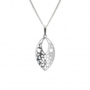 Silver Pendant with Chain KO5147_CU040_45