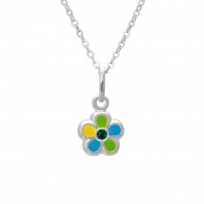 Childrens Silver Pendant with Chain KO8009_BR030_40