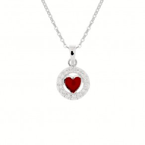 Childrens Silver Love Pendant with Chain