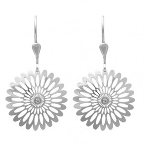 Silver Earrings NA0517 Shining Blossom