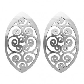 Silver Earrings NA0637 Spiral