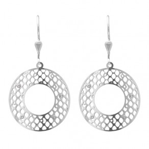 Silver Earrings NA0886 Eclipse