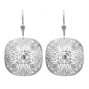 Silver Earrings NA0888 Oriental Garden