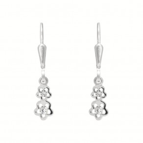 Childrens Silver Forget-me not Earrings