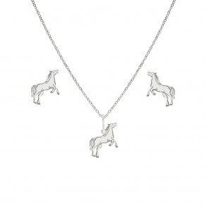 Childrens Silver Pendant Set, Chain and EarringsSE0415m_BR030_40_NA0374