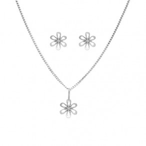 Childrens Silver Pendant Set, Chain and EarringsSE1262_CU035_40_NA0646